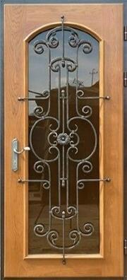 Роликовая стальная дверь с ковкой