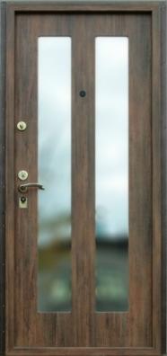 Стальная дверь с зеркалом